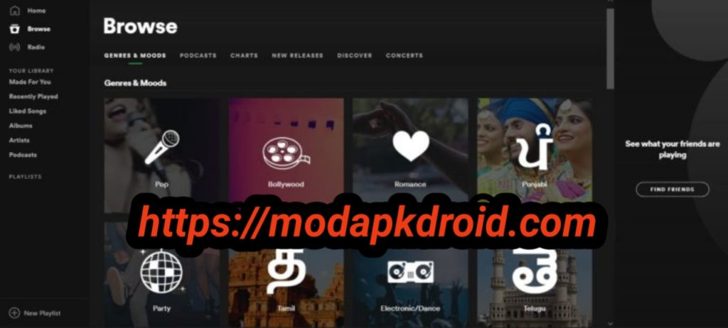 Spotify Mod Apk Browse