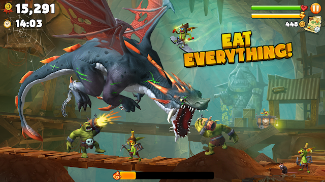 Hungry Dragon v3.4 Full Apk + MOD (Unlimited Money/Coins) + Data Android